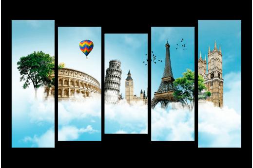 Модульная картина Мир путешествий