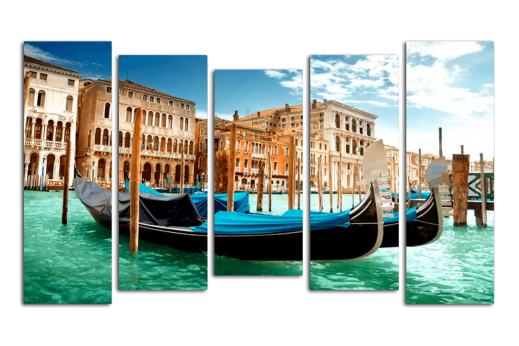 Модульная картина Венецианские гондолы